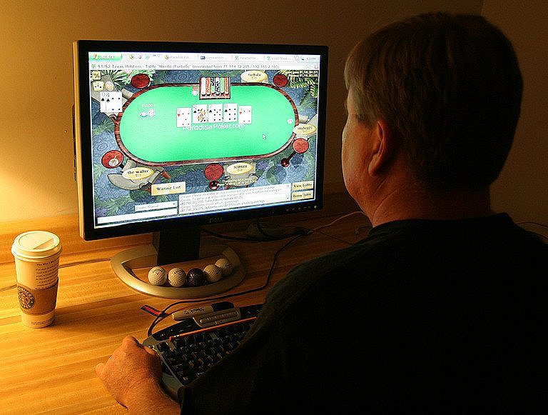 Playing poker at the online poker rooms